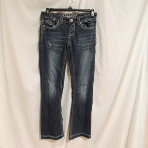 HYDRAULIC Womens Low Flare Size 7 / 8 Blue Jeans